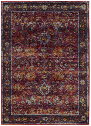 Oriental Weavers Andorra 7153a Red Area Rug