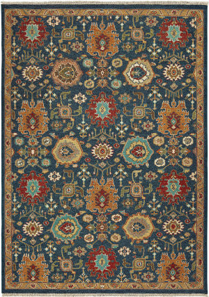 Tommy Bahama Angora 12307 Blue - Rust Area Rug