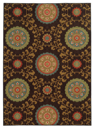 Oriental Weavers Arabella 15757 Brown Area Rug