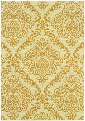Oriental Weavers Bali 8424j Gold/Ivory Area Rug