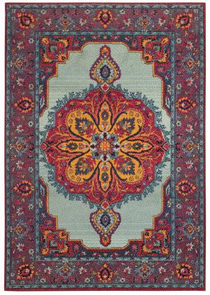 Oriental Weavers Bohemian 3339m Blue - Purple Area Rug