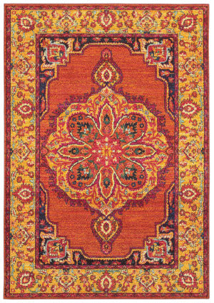 Oriental Weavers Bohemian 3339y Orange - Yellow Area Rug