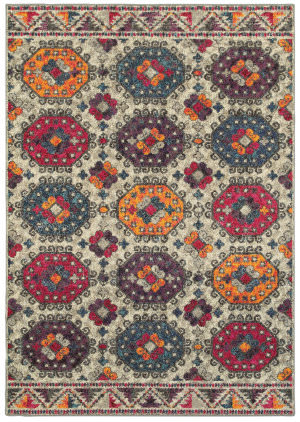 Oriental Weavers Bohemian 405j Grey - Multi Area Rug
