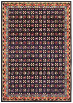 Oriental Weavers Bohemian 760n Navy - Pink Area Rug