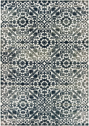 Oriental Weavers Bowen 5506e Navy - Ivory Area Rug