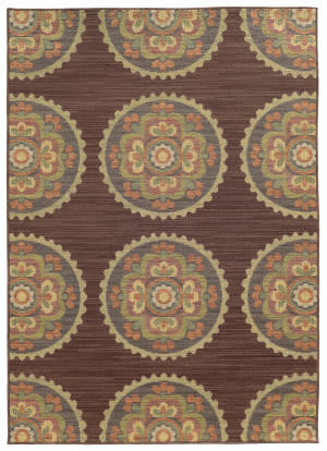 Tommy Bahama Cabana 501m2 Brown Area Rug