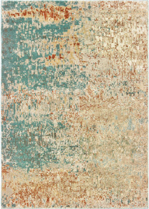 Oriental Weavers Carson 9654b Blue - Orange Area Rug