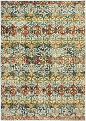Oriental Weavers Dawson 7341b Multi - Ivory Area Rug