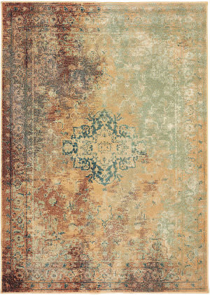 Oriental Weavers Dawson 8324a Rust - Gold Area Rug