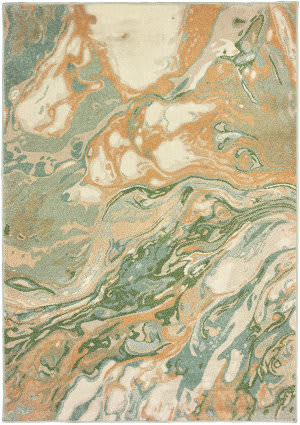 Oriental Weavers Dawson 8337a Green - Gold Area Rug