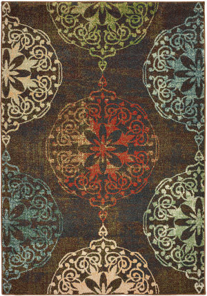 Oriental Weavers Dawson 8522c Brown - Multi Area Rug