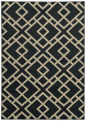 Oriental Weavers Ella 3685h Navy / Beige Area Rug