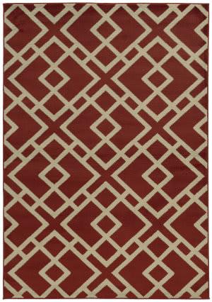 Oriental Weavers Ella 3685j Red / Beige Area Rug