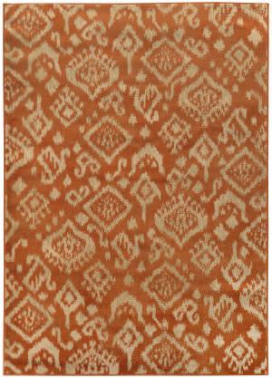 Oriental Weavers Ella 5113c Orange / Beige Area Rug