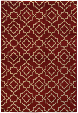 Oriental Weavers Ella 5185e Red / Beige Area Rug