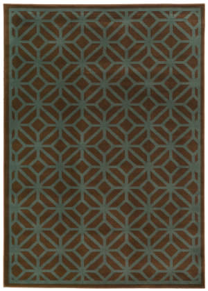 Oriental Weavers Ella 5188d Brown / Blue Area Rug