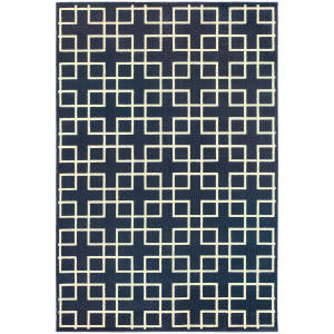 Oriental Weavers Ellerson 6140b Navy Area Rug