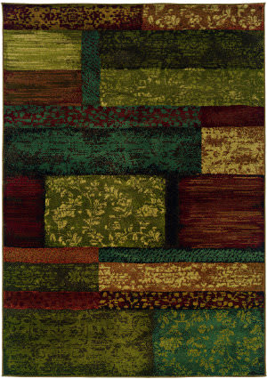 Oriental Weavers Emerson 2480c Brown/Teal Area Rug