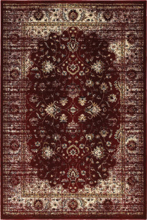 Oriental Weavers Empire 114r Red - Ivory Area Rug