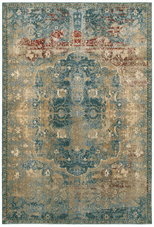 Oriental Weavers Empire 4449h Gold - Blue Area Rug