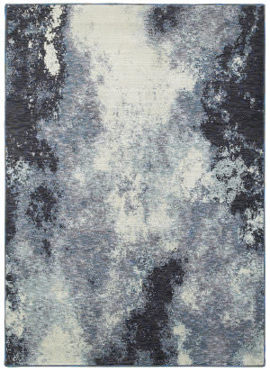 Oriental Weavers Evolution 8000b Navy - Ivory Area Rug