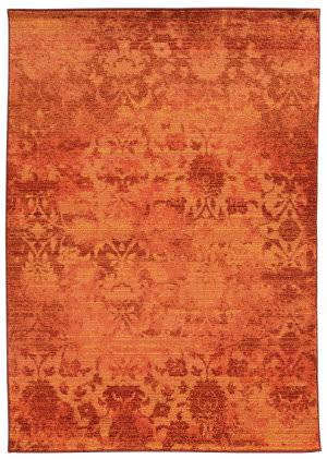 PANTONE UNIVERSE Expressions 5997c Orange/ Pink Area Rug