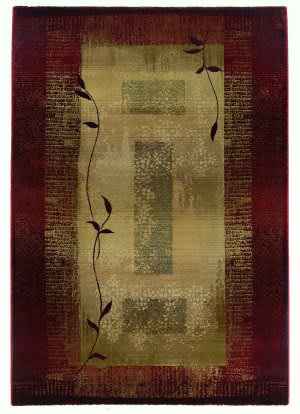 Oriental Weavers Generations 544x1 Burgundy Area Rug