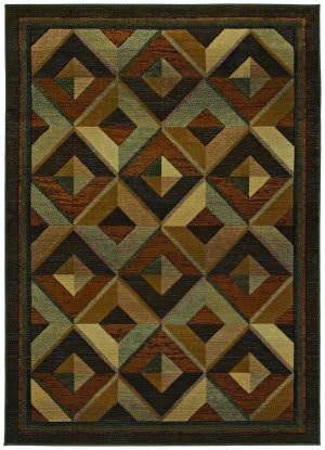 Oriental Weavers Genesis 956q1 Gold Area Rug
