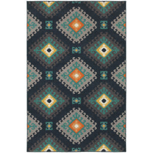 Oriental Weavers Hampton 4929b Navy Area Rug