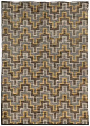 Oriental Weavers Harper 46248 Grey / Gold Area Rug