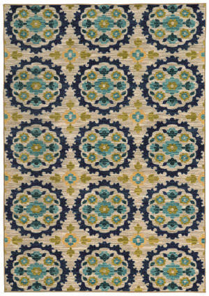 Oriental Weavers Harper 70373 Beige / Blue Area Rug