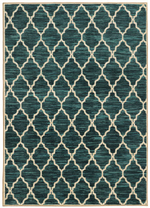 Oriental Weavers Harper 79279 Teal / Ivory Area Rug