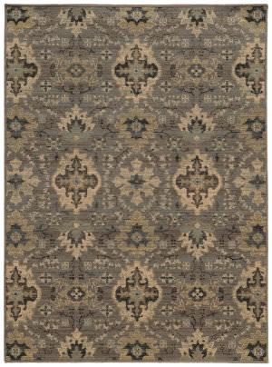 Oriental Weavers Heritage 8028e Blue / Ivory Area Rug