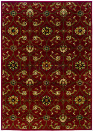 Oriental Weavers Hudson 3299a Russet Brown Area Rug