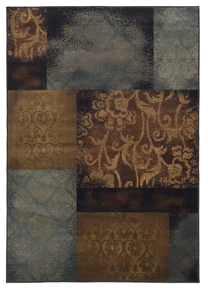 Oriental Weavers Hudson 4878b Teal/Brown Area Rug