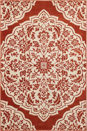 Oriental Weavers Jayden 7422h Rust - Ivory Area Rug