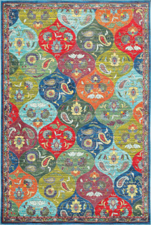 Oriental Weavers Joli 9648s Multi - Blue Area Rug
