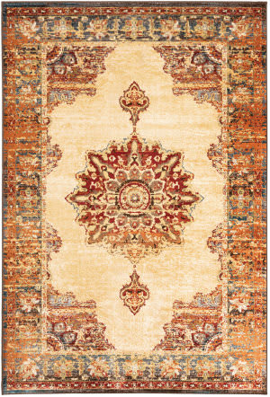 Oriental Weavers Juliette 8120w Gold - Orange Area Rug