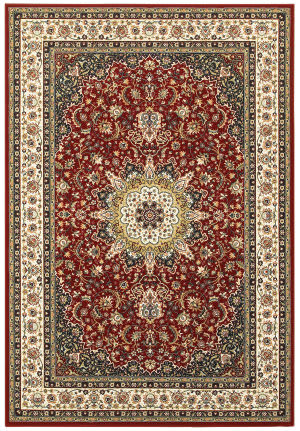Oriental Weavers Kashan 119n Red - Ivory Area Rug