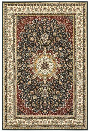 Oriental Weavers Kashan 119u Navy - Ivory Area Rug