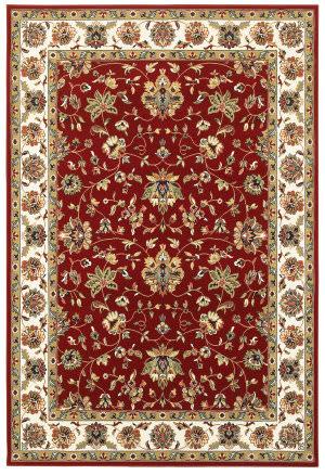 Oriental Weavers Kashan 4929r Red - Ivory Area Rug