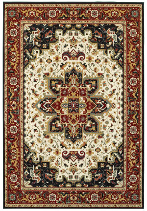 Oriental Weavers Kashan 96w Red - Ivory Area Rug