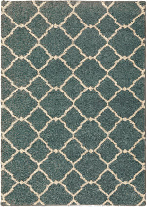 Oriental Weavers Kendall 090b1 Teal - Ivory Area Rug