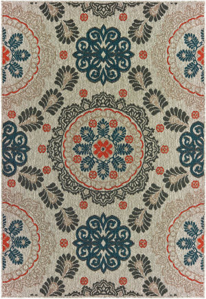Oriental Weavers Latitude 1903w Grey - Blue Area Rug