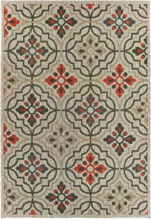 Oriental Weavers Latitude 709y3 Grey - Orange Area Rug
