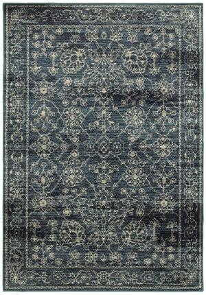 Oriental Weavers Linden 7804d Navy - Beige Area Rug