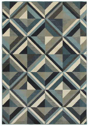 Oriental Weavers Linden 7902a Blue - Grey Area Rug