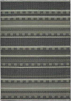 Oriental Weavers Luna 1802k Black - Ivory Area Rug