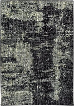Oriental Weavers Luna 1805k Black - Ivory Area Rug