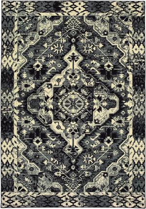 Oriental Weavers Luna 5603k Black - Ivory Area Rug